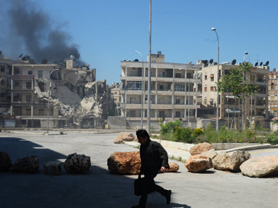 University of Aleppo Bombed.